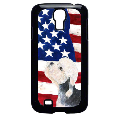 Carolines Treasures SS4030GALAXYS4 USA American Flag with Dandie Dinmont Terrier Cell Phone Cover GALAXY S4