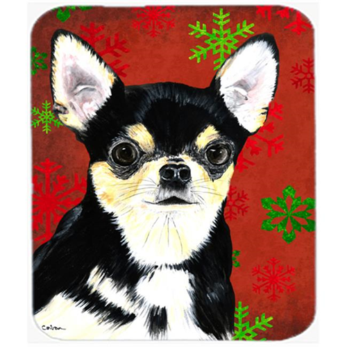 Carolines Treasures SC9439MP Chihuahua Snowflakes Holiday Christmas Mouse Pad Hot Pad Or Trivet