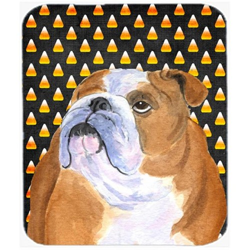 Carolines Treasures SS4285MP Bulldog English Candy Corn Halloween Portrait Mouse Pad Hot Pad Or Trivet