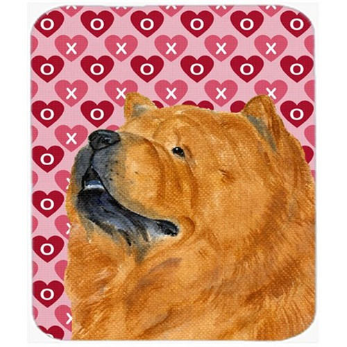 Carolines Treasures SS4502MP Chow Chow Hearts Love And Valentines Day Portrait Mouse Pad Hot Pad Or Trivet