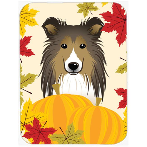 Carolines Treasures BB2048MP Sheltie Thanksgiving Mouse Pad Hot Pad or Trivet