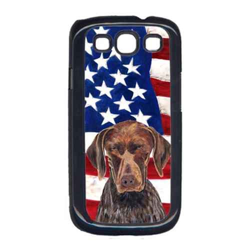 Carolines Treasures SC9034GALAXYS3 USA American Flag with German Shorthaired Pointer Cell Phone Cover GALAXY S111