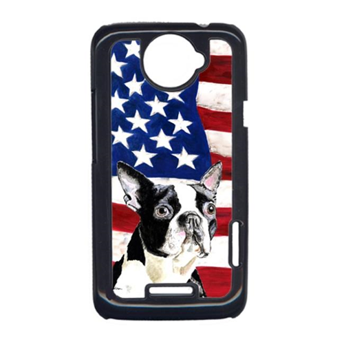 Carolines Treasures SC9001HTCONE USA American Flag With Boston Terrier HTC One X Cell Phone Cover