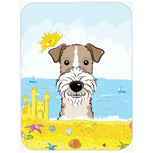 Carolines Treasures BB2115MP Wire Haired Fox Terrier Summer Beach Mouse Pad Hot Pad or Trivet