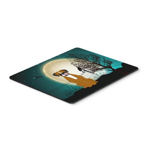 Carolines Treasures BB2306MP Halloween Scary Flashy Fawn Boxer Mouse Pad Hot Pad or Trivet