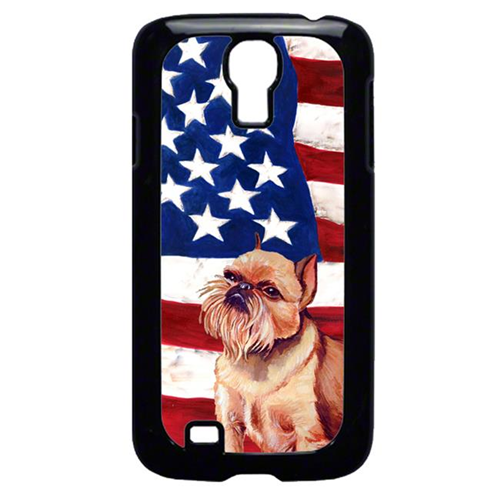 Carolines Treasures LH9023GALAXYS4 USA American Flag with Brussels Griffon Cell Phone Cover GALAXY S4