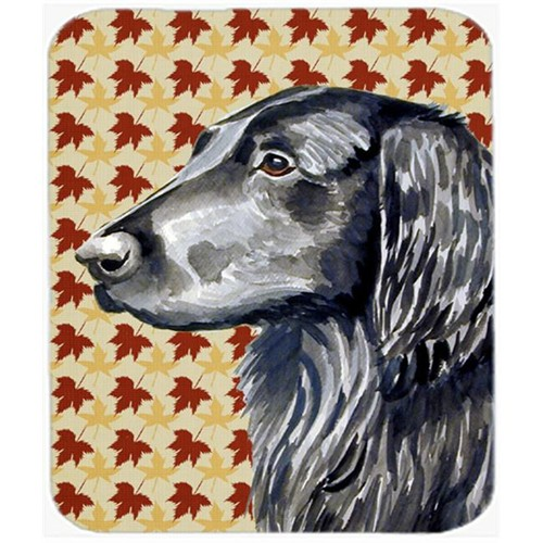 Carolines Treasures LH9096MP Flat Coated Retriever Fall Leaves Portrait Mouse Pad Hot Pad Or Trivet