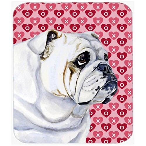 Carolines Treasures LH9139MP Bulldog English Hearts Love And Valentines Day Mouse Pad Hot Pad Trivet