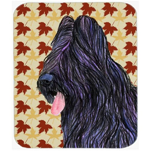 Carolines Treasures SS4367MP Briard Fall Leaves Portrait Mouse Pad Hot Pad Or Trivet