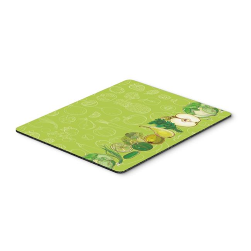 Carolines Treasures BB5135MP Fruits & Vegetables in Green Mouse Pad Hot Pad or Trivet