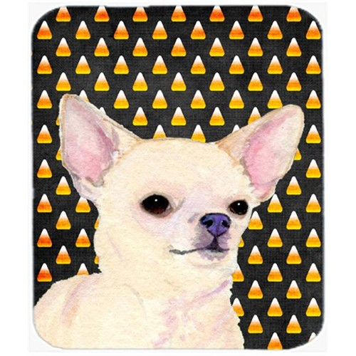 Carolines Treasures SS4265MP Chihuahua Candy Corn Halloween Portrait Mouse Pad Hot Pad Or Trivet