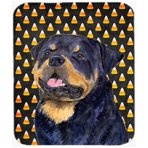 Carolines Treasures SS4317MP Rottweiler Candy Corn Halloween Portrait Mouse Pad Hot Pad or Trivet
