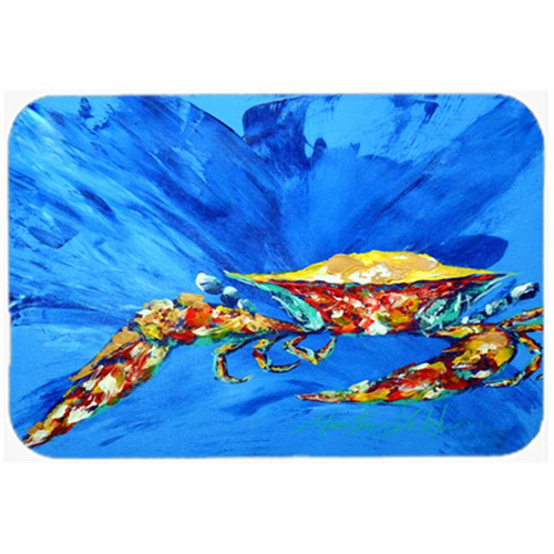 Carolines Treasures MW1163MP Big Spash Crab in blue Mouse Pad Hot Pad or Trivet