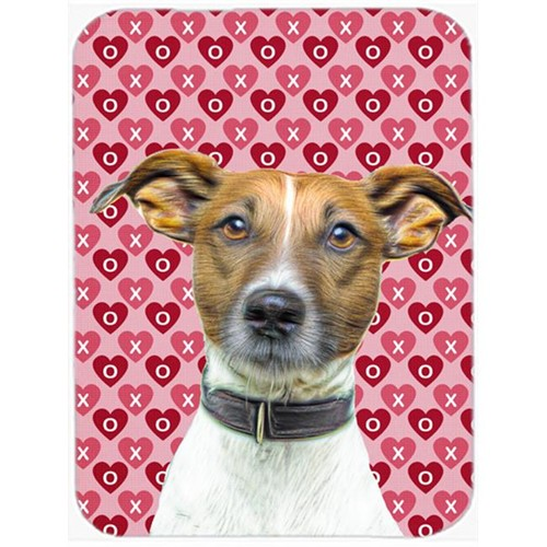 Carolines Treasures KJ1190MP Hearts Love and Valentines Day Jack Russell Terrier Mouse Pad Hot Pad or Trivet
