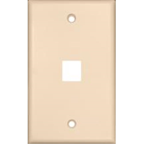 Morris Products 88182 Wallplate For Keystone Jacks And Modular Inserts One Port Lt. Almond