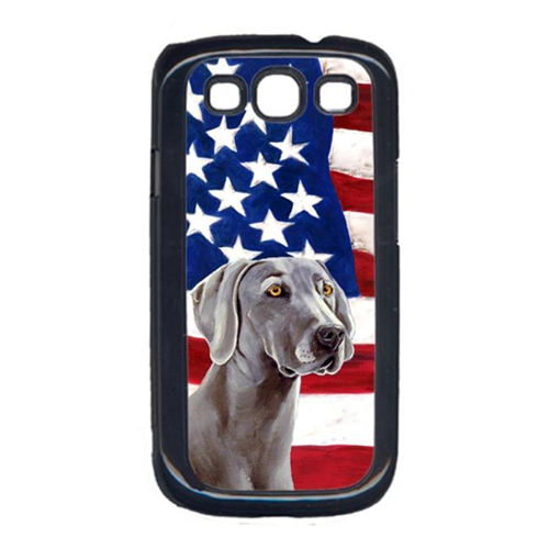 Carolines Treasures LH9001GALAXYS3 USA American Flag with Weimaraner Cell Phone Cover GALAXY S111