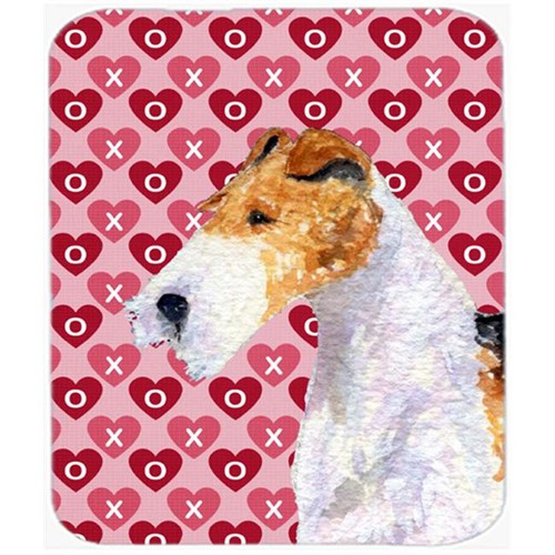 Carolines Treasures SS4478MP Fox Terrier Hearts Love And Valentines Day Mouse Pad Hot Pad Or Trivet