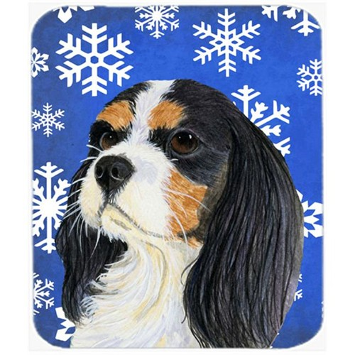 Carolines Treasures LH9279MP Cavalier Spaniel Winter Snowflakes Holiday Mouse Pad Hot Pad Or Trivet