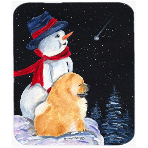 Carolines Treasures SS8554MP Snowman With Chow Chow Mouse Pad Hot Pad Or Trivet