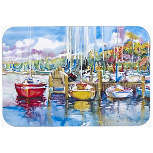 Carolines Treasures JMK1063MP Paradise Yacht Club Sailboats Mouse Pad Hot Pad & Trivet