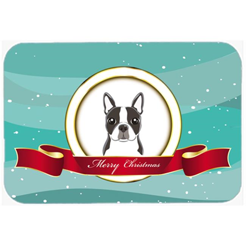 Carolines Treasures BB1513MP Boston Terrier Merry Christmas Mouse Pad Hot Pad & Trivet