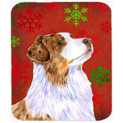 Carolines Treasures LH9318MP Australian Shepherd Snowflakes Christmas Mouse Pad Hot Pad Or Trivet - 7.75 x 9.25 In.
