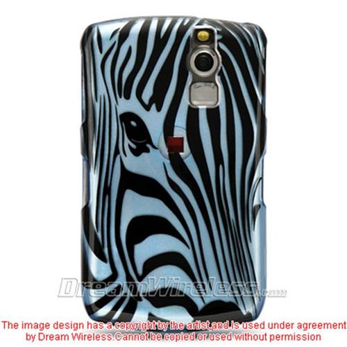 DreamWireless CABB8330BLZF Blackberry 8330 And 8300 Crystal Case Blue Zebra Face