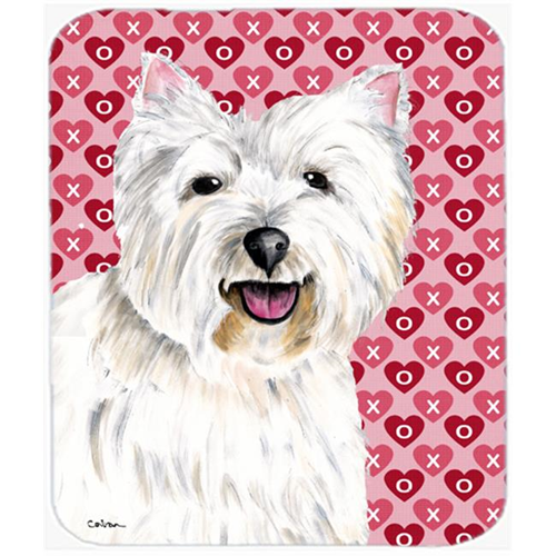 Carolines Treasures SC9269MP Westie Hearts Love And Valentines Day Portrait Mouse Pad Hot Pad Or Trivet