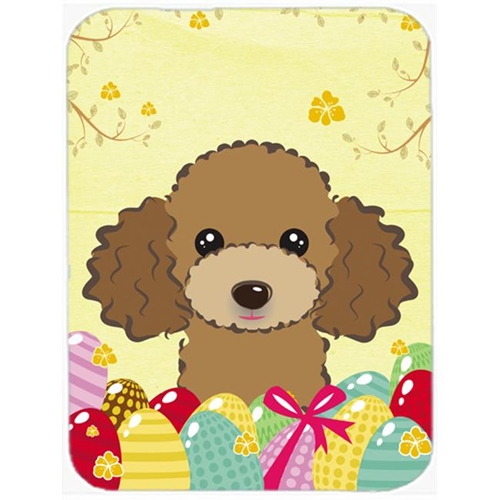 Carolines Treasures BB1938MP Chocolate Brown Poodle Easter Egg Hunt Mouse Pad Hot Pad or Trivet