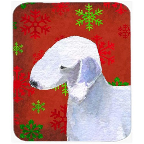 Carolines Treasures SS4690MP Bedlington Terrier Red Green Snowflakes Christmas Mouse Pad Hot Pad or Trivet