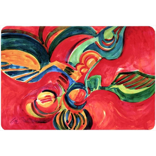 Carolines Treasures 6043MP Red Flowers And Berries Mouse Pad Hot Pad Or Trivet