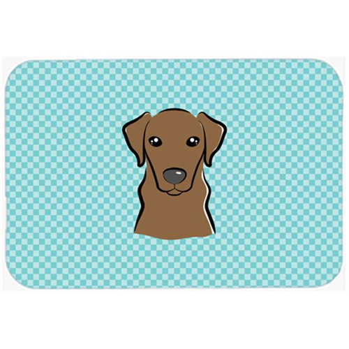 Carolines Treasures BB1172MP Checkerboard Blue Chocolate Labrador Mouse Pad Hot Pad Or Trivet 7.75 x 9.25 In.