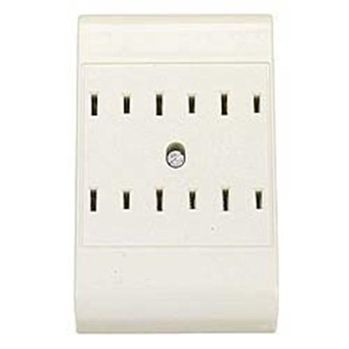Leviton Ivory Six Outlet Plug-In Outlet Adapter C21-49687-00I