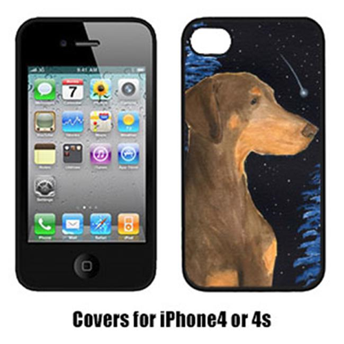Carolines Treasures SS8462IP4 Starry Night Doberman Cell Phone Cover Iphone 4