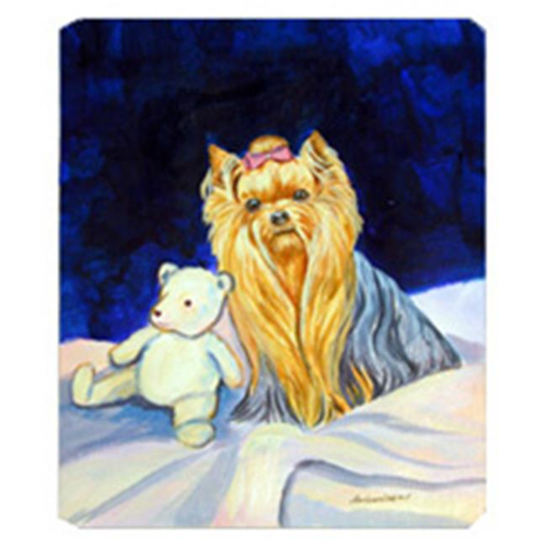 Carolines Treasures 7221MP 8 x 9.5 in. Yorkie and Teddy Bear Mouse Pad Hot Pad or Trivet