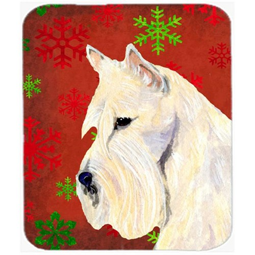 Carolines Treasures SS4737MP Scottish Terrier Snowflakes Christmas Mouse Pad Hot Pad or Trivet
