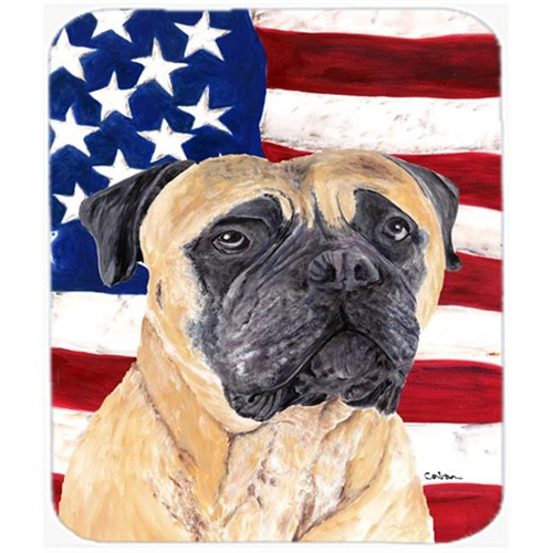 Carolines Treasures SC9031MP Usa American Flag With Mastiff Mouse Pad Hot Pad Or Trivet