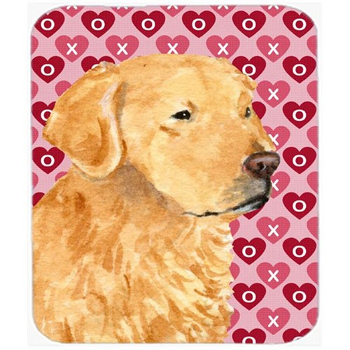 Carolines Treasures SS4476MP Golden Retriever Hearts Love And Valentines Day Mouse Pad Hot Pad Or Trivet