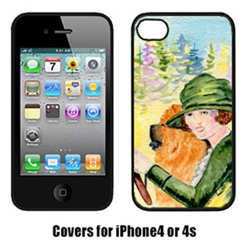 Carolines Treasures SS8527IP4 Lady Driving With Her Chow Chow Iphone4 Cover