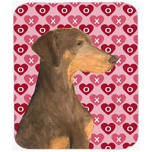 Carolines Treasures SS4479MP Doberman Hearts Love And Valentines Day Portrait Mouse Pad Hot Pad Or Trivet