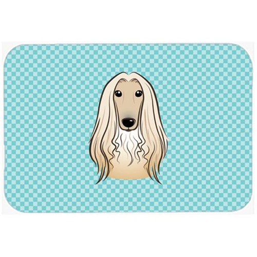 Carolines Treasures BB1182MP Checkerboard Blue Afghan Hound Mouse Pad Hot Pad Or Trivet 7.75 x 9.25 In.