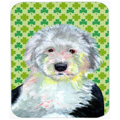 Carolines Treasures LH9216MP Old English Sheepdog St. Patricks Day Shamrock Mouse Pad Hot Pad or Trivet
