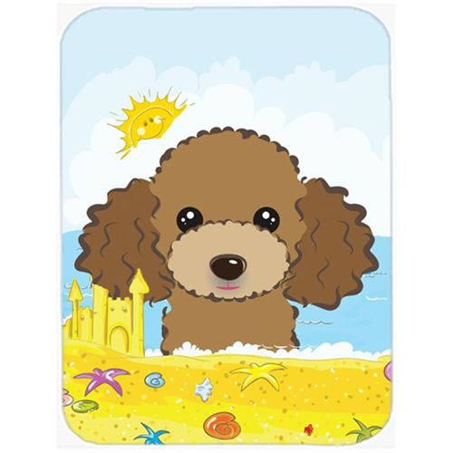 Carolines Treasures BB2124MP Chocolate Brown Poodle Summer Beach Mouse Pad Hot Pad or Trivet