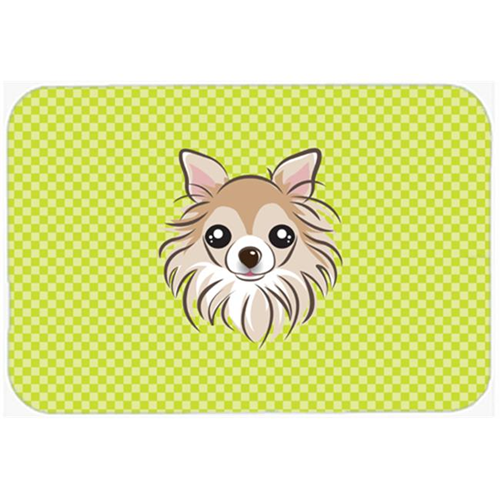 Carolines Treasures BB1313MP Checkerboard Lime Green Chihuahua Mouse Pad Hot Pad Or Trivet 7.75 x 9.25 In.