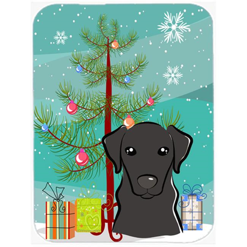 Carolines Treasures BB1607MP Christmas Tree And Black Labrador Mouse Pad Hot Pad & Trivet
