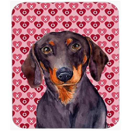 Carolines Treasures LH9133MP Dachshund Hearts Love And Valentines Day Portrait Mouse Pad Hot Pad or Trivet