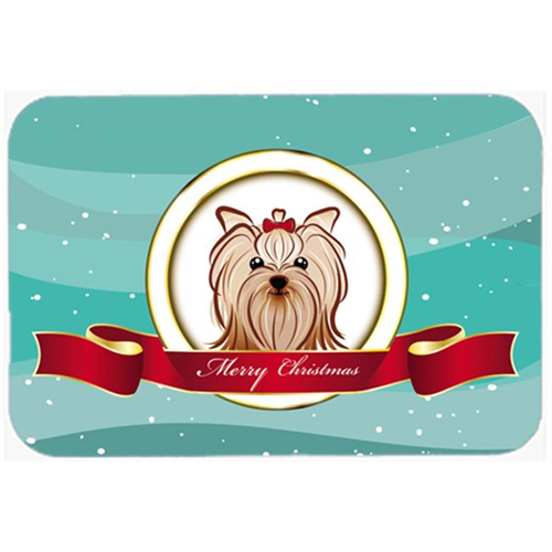 Carolines Treasures BB1514MP Yorkie Yorkishire Terrier Merry Christmas Mouse Pad Hot Pad & Trivet
