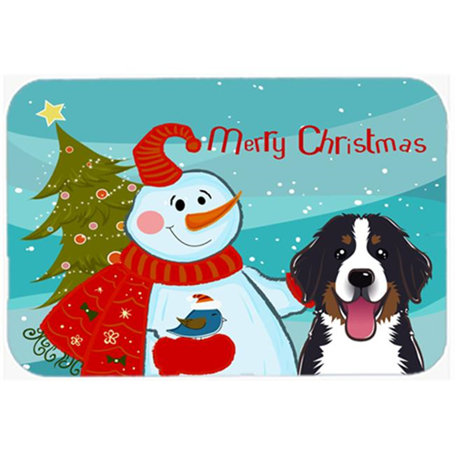 Carolines Treasures BB1857MP Snowman With Bernese Mountain Dog Mouse Pad Hot Pad & Trivet