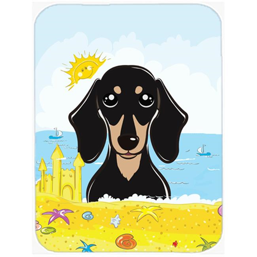 Carolines Treasures BB2083MP Smooth Black & Tan Dachshund Summer Beach Mouse Pad Hot Pad or Trivet