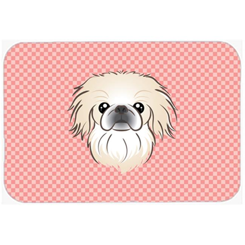Carolines Treasures BB1221MP Checkerboard Pink Pekingese Mouse Pad Hot Pad Or Trivet 7.75 x 9.25 In.